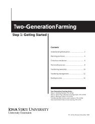 Two Generation Farming - Iowa State University Extension and ...