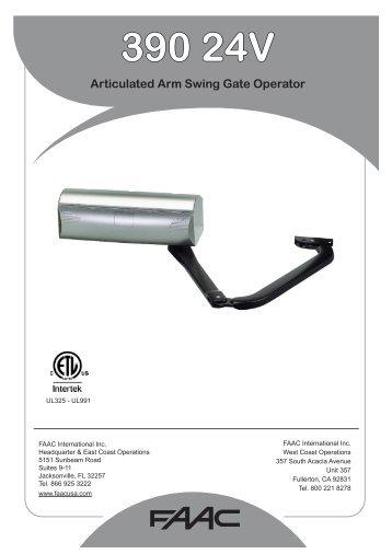 Faac with mps control panel manual gates