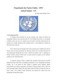 Organização das Nações Unidas – ONU United Nations – UN - Faap