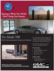 The Model 390 Swing Gate Operator - FAAC USA