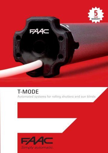 T-Mode Brochure - FAAC USA
