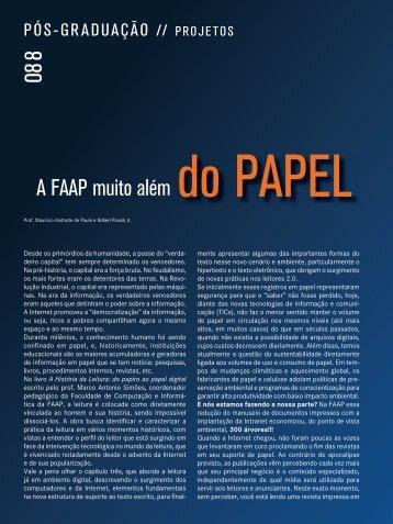"""""""A FAAP muito além do papel"""", Revista Qualimetria nº 203 - Julho ..."""