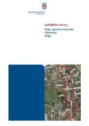 Lokalplan 2012-5 Bolig- og erhvervsområde Odensevej, Ringe