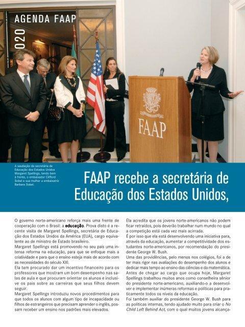 FAAP recebe a secretária de Educação dos Estados Unidos,