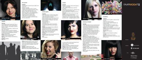 Conheça as finalistas do FAAP Moda 2012.