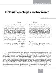 Ecologia, tecnologia e conhecimento - Faap