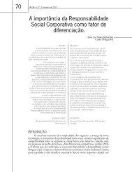 A importância da Responsabilidade Social Corporativa como ... - Faap