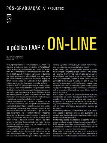 """""""O público FAAP é online"""", Revista Qualimetria nº 200 - Abril de 2008."""