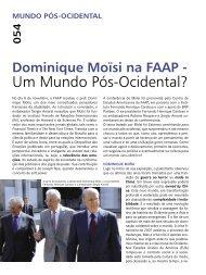 (QUAL – Ed. 245 – pág. 54 – 61) Palestra - Faap