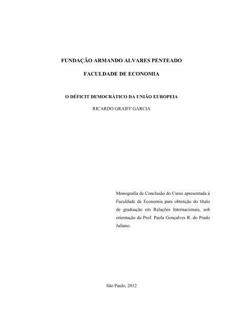 Ricardo Graiff Garcia Prof. Orientador - Faap