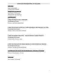 ESTRUTURA ORGANIZACIONAL DA FACULDADE ... - Faap