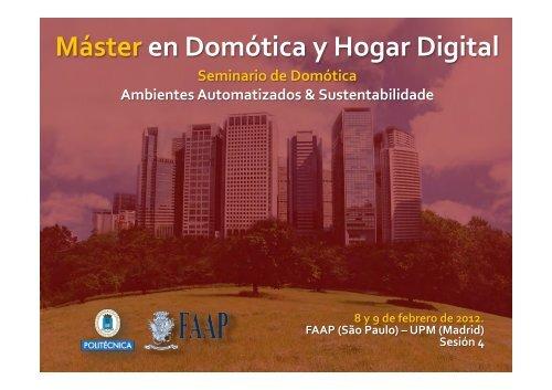 Máster en Domótica y Hogar Digital Presentación de OSA - Faap