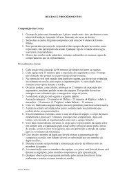 REGRAS E PROCEDIMENTOS DA CORTE ... - Faap
