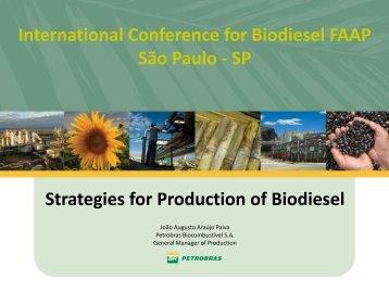 Strategies for Production of Biodiesel - João Augusto Araújo ... - Faap