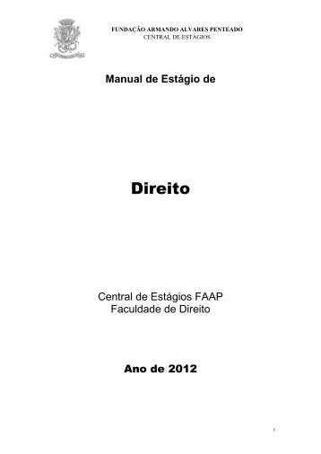 Manual de Estágio - Faap