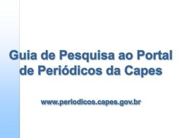 Manual de pesquisa - Portal Periódicos CAPES - Faap