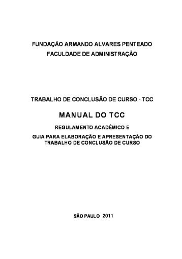 Manual do TCC 2011 - Faap
