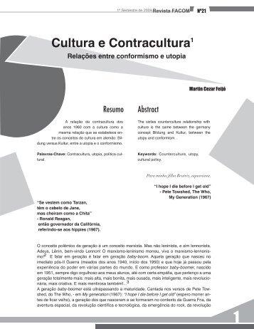 Cultura e Contracultura1 - Faap