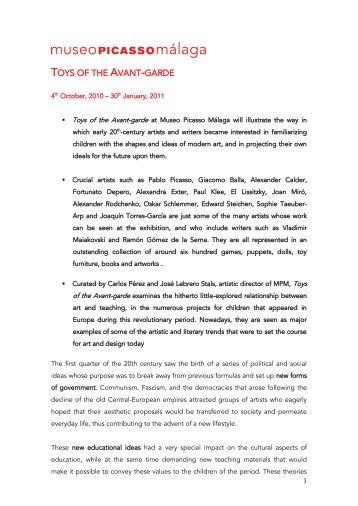 Press release - FABA - Fundación Almine y Bernard Ruiz-Picasso ...