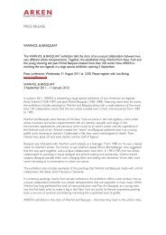 PRESS RELEASE WARHOL & BASQUIAT