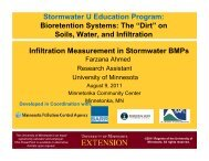 Principles of Soil Infiltration - University of Minnesota Extension ...