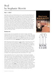 Real by Stephanie Merritt - Faber and Faber