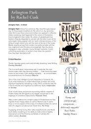 Arlington Park by Rachel Cusk - Faber and Faber