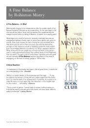A Fine Balance by Rohinton Mistry - Faber and Faber