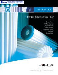 POREX Radial Cartridge Filter