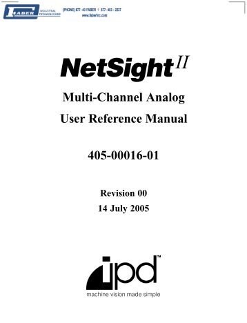 NetSight II-MCA User's Reference - Faber Industrial Technologies