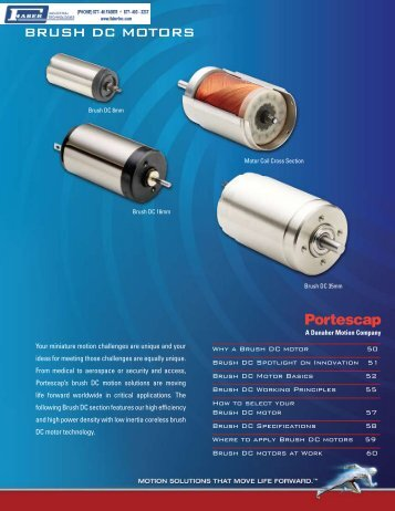 Portescap Brush DC Motors - Faberinc.com