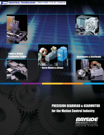 Precision Gearhead & Gearmotor for the Motion Control Industry