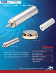 Portescap Brushless DC Motors - Faber Industrial Technologies