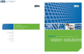 Dalsa Vision Solutions Brochure - Faber Industrial Technologies