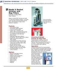Model 4 Basket Strainer and Bag Filters - Faberinc.com
