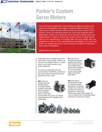 Parker's Custom Servo Motors - Faber Industrial Technologies