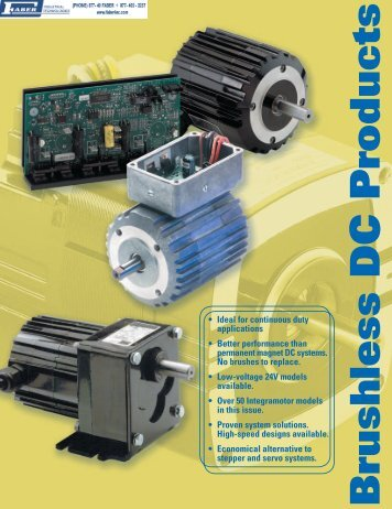 Brushless DC Motors, Gearmotors, & Controls - Faberinc.com