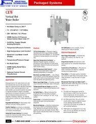 CEW Vertical Hot Water Boiler - Faber Industrial Technologies