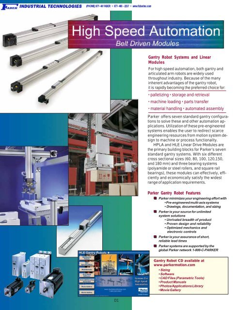 Gantry Robots Systems and Linear Modules - Faberinc com