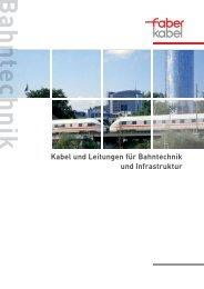 Flyer Bahntechnik - Faber