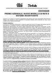 Comunicato Unitario GRUPPO BANCO POPOLARE Premio ... - Fabi
