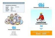 Catalogo corsi di formazione anno 2006 - Fabi