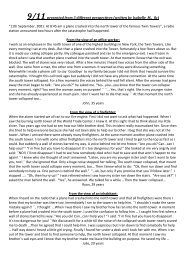 9/11 from 3 different perspectives (written by Isabelle M