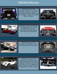 PORSCHE 997/996 Carrera - Fabspeed