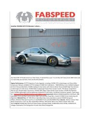 Our latest 997.1TT build came to us from Texas. It ... - Fabspeed