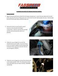 Installation instructions for Fabspeed Valvetronic Mufflers Vacuum ...