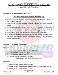 Porsche 993TT Full Maxflo Exhaust, Cup Airbox & ECU ... - Fabspeed