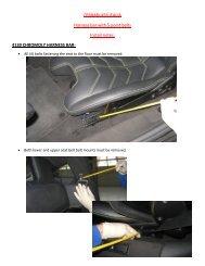 FERRARI 458 ITALIA Harness bar with 5 point belts ... - Fabspeed