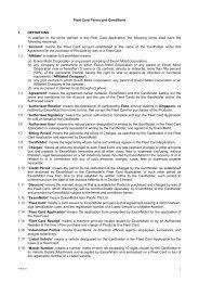 Esso Fleet Card Terms and Conditions - ExxonMobil Singapore