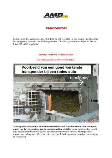 TRANSPONDERS - FAC autocross